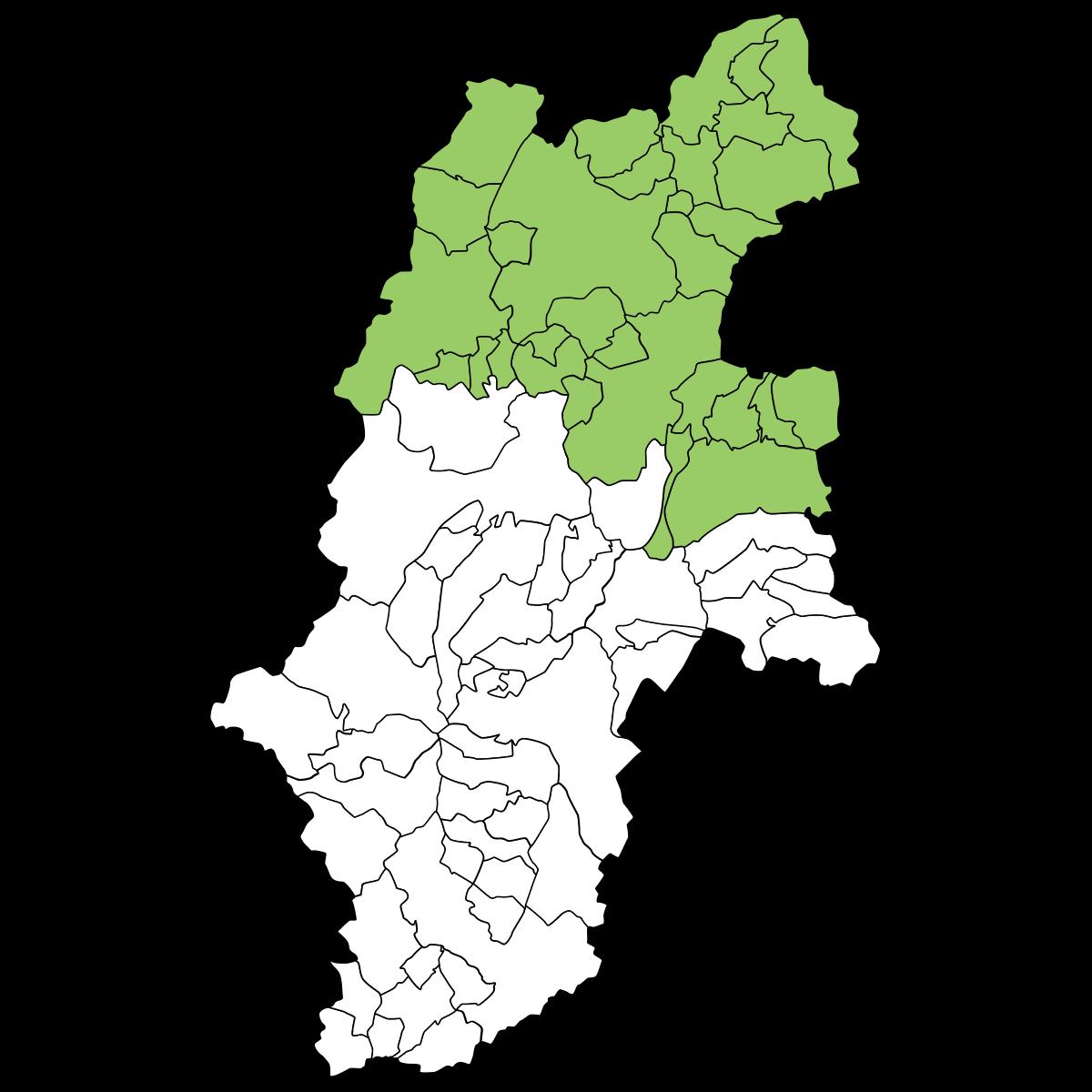 長野の地図