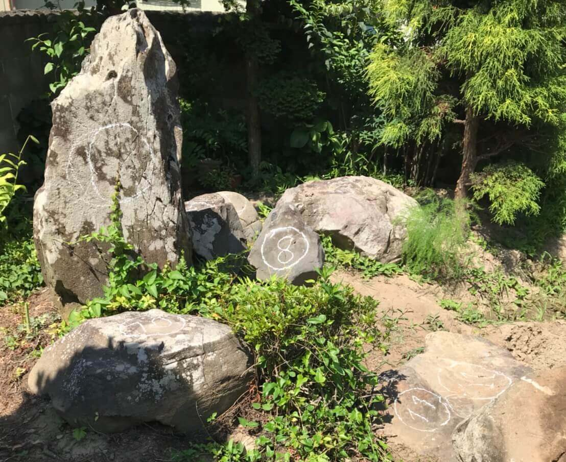 長野市松代町の庭石撤去1