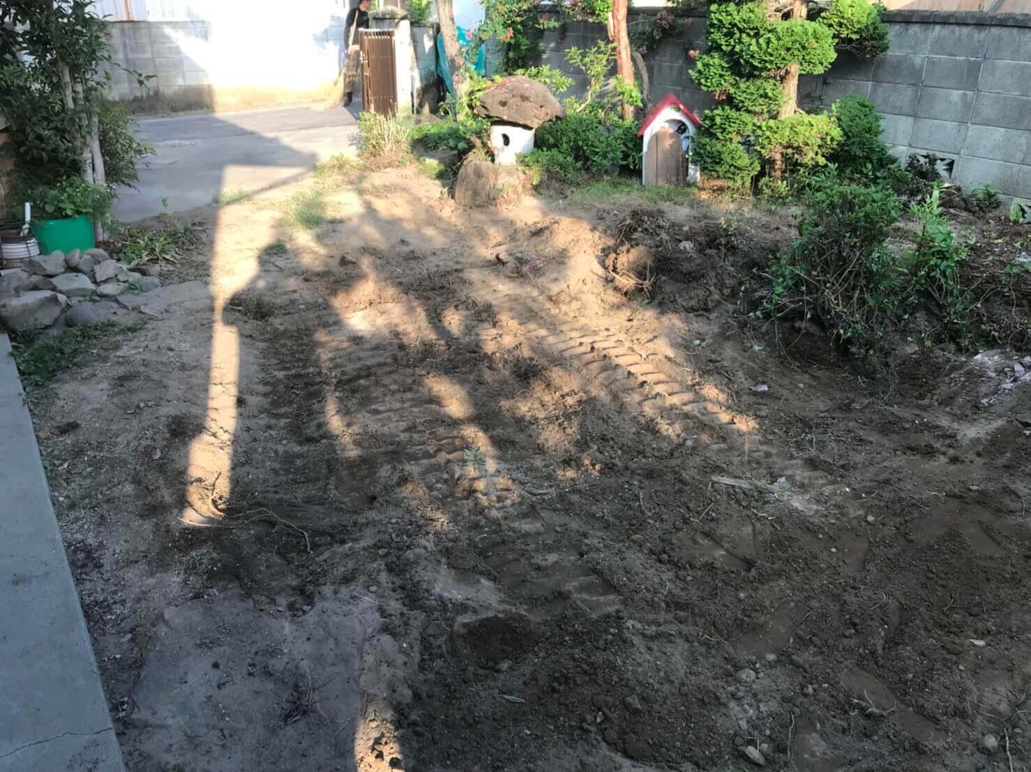 長野市松代町の庭石撤去3