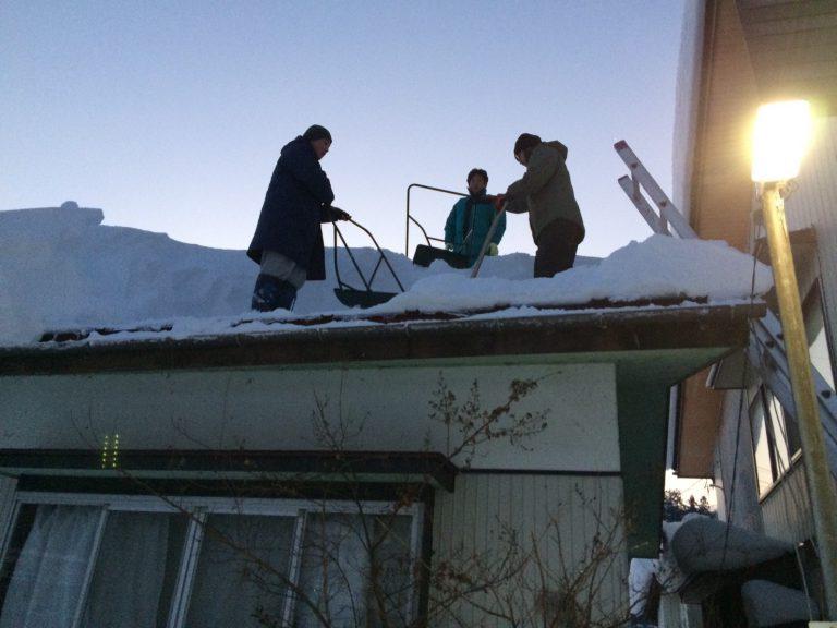 雪下ろし作業の様子