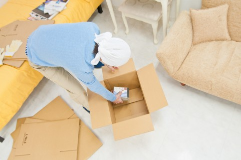 引っ越しの荷物整理