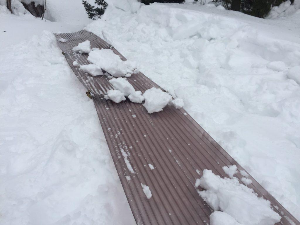 信濃町の雪下ろし3
