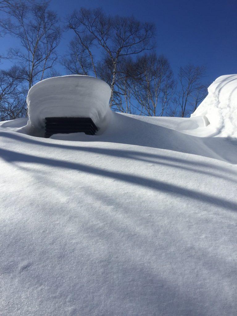 戸隠の雪下ろし