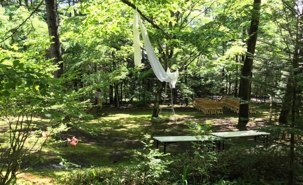 軽井沢町 結婚式場設営4