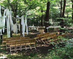 軽井沢での結婚式場設営2の1