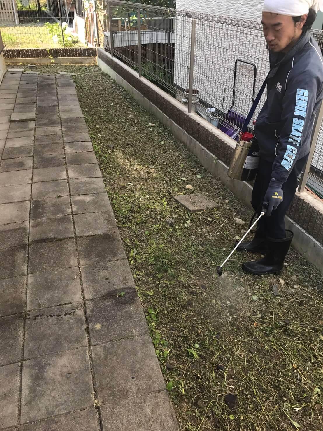 長野市敦賀七瀬 草刈り1