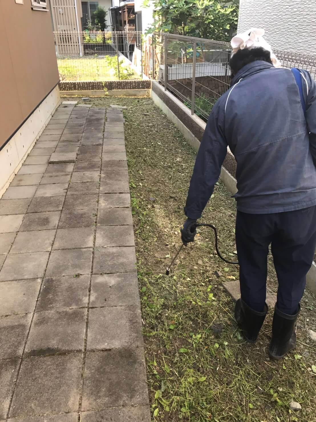 長野市敦賀七瀬 草刈り2
