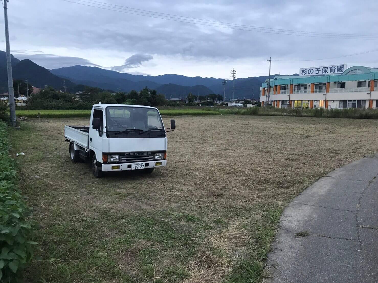 長野市松代 借りてた土地の草刈り1