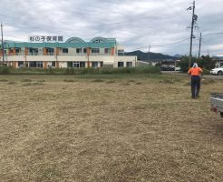 長野市松代 借りてた土地の草刈り2