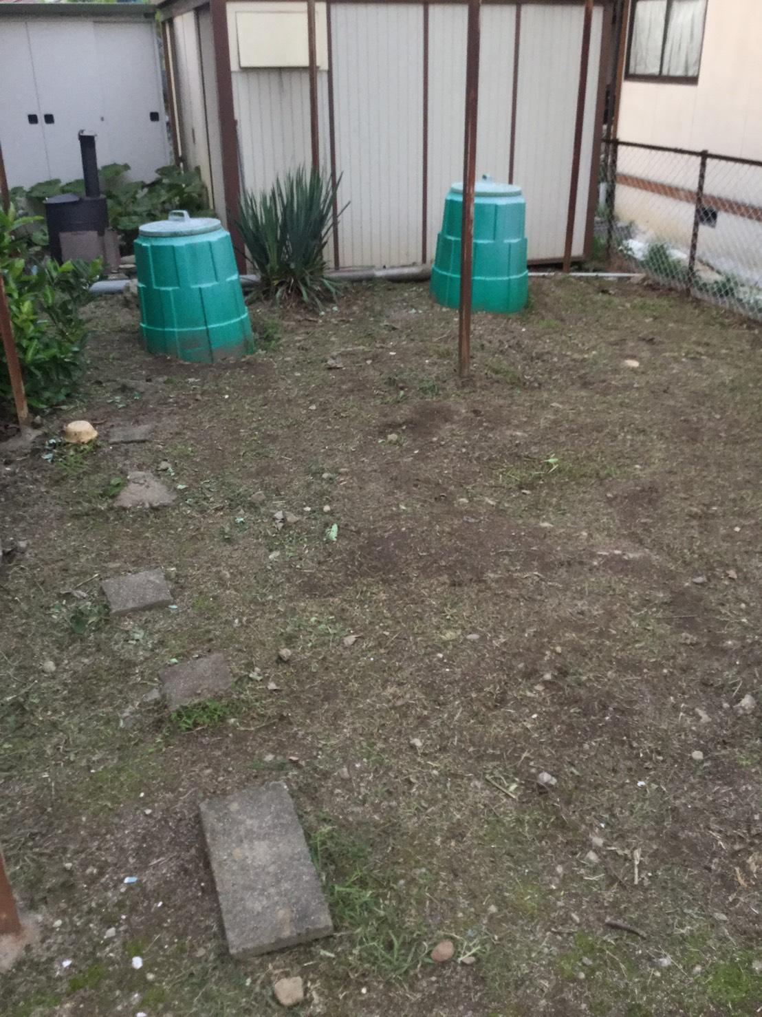 長野市松代東条 大きい庭の草刈り6