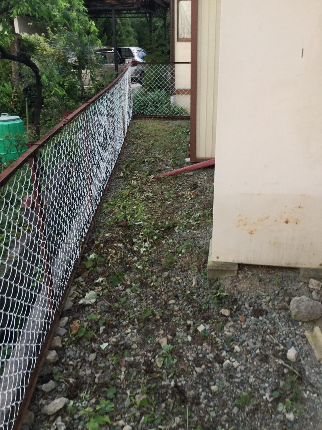 長野市松代東条 大きい庭の草刈り4