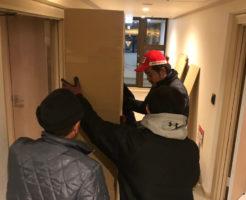 北志賀高原のホテルでの搬入作業1