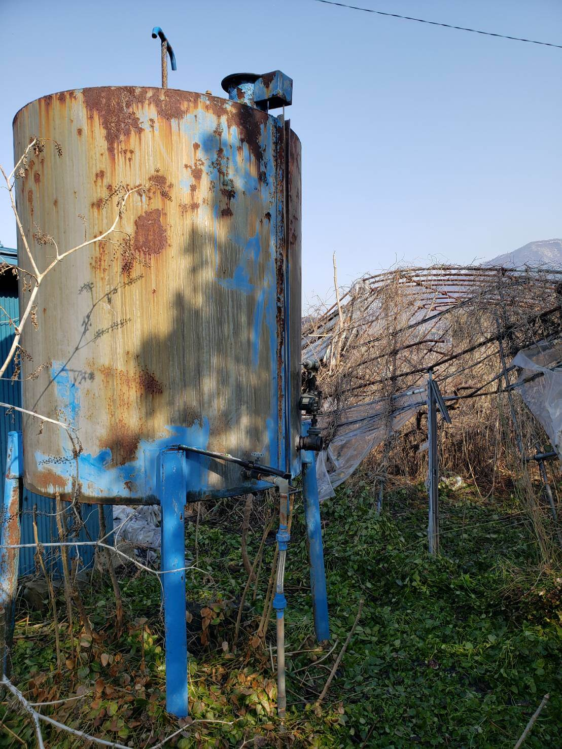 長野市:ビニールハウス等の解体撤去1