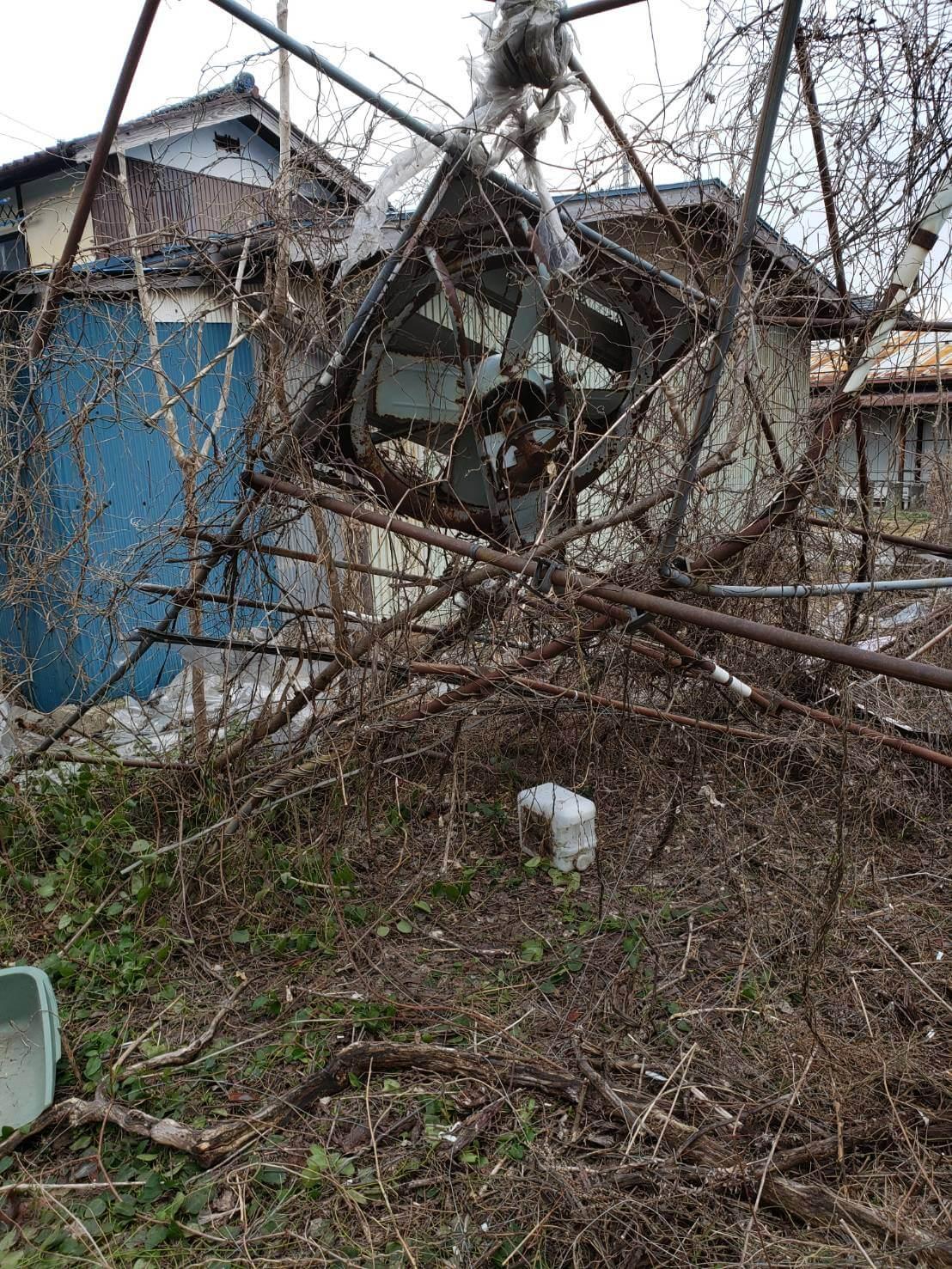 長野市:ビニールハウス等の解体撤去4