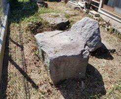 長野市手刈りでの草刈り作業3