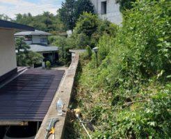 2020年8月28日:長野市お隣さんの敷地にはみ出した草の草刈り3