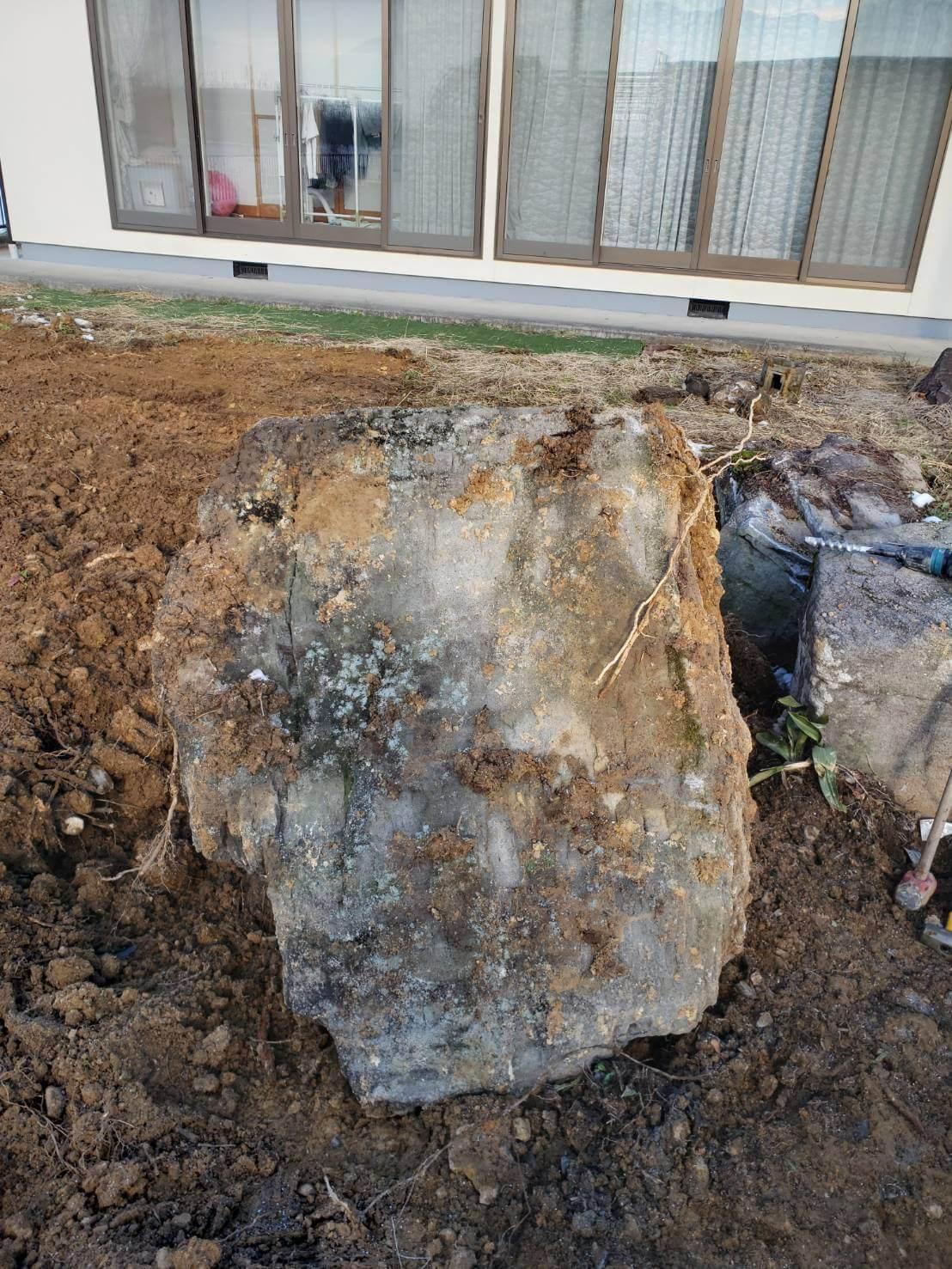 2020年12月29日 北信地域の庭石撤去1