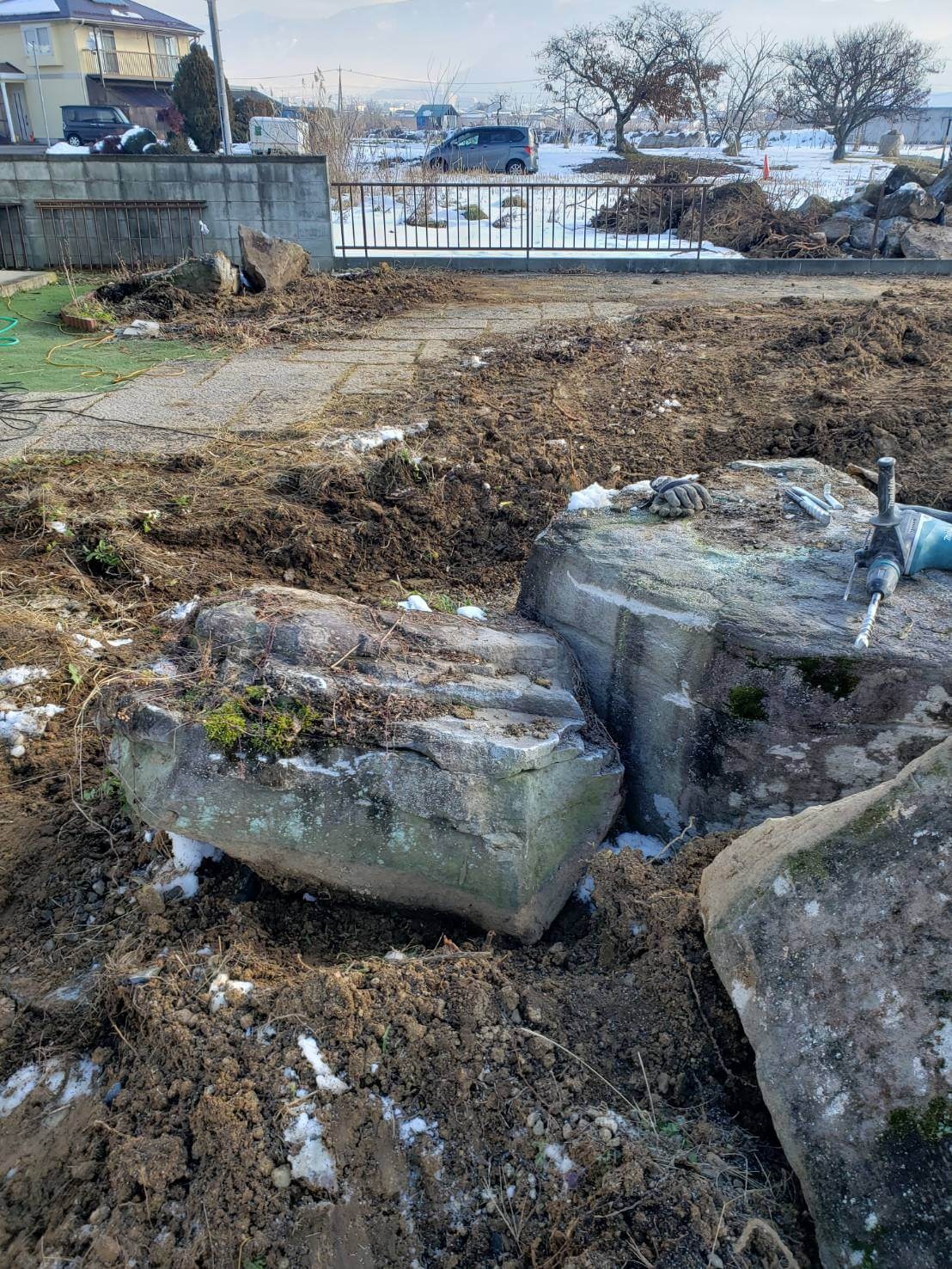 2020年12月29日 北信地域の庭石撤去2