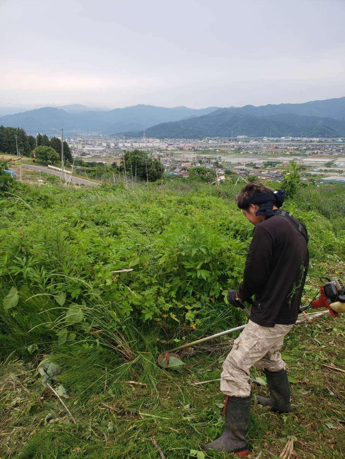 2021年6月9日長野市草刈り2